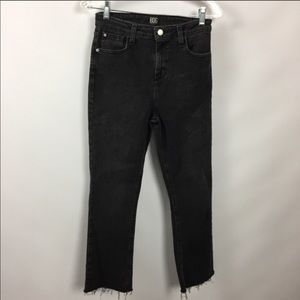 BDG high waisted cropped kick flare jeans
